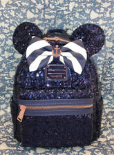 IN HAND Disney Cruise Line Loungefly Backpack DCL Navy Blue Sequin Anchor Minnie