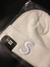 Supreme New Era F/W 17 Box Logo S Logo Beanie WHITE Rare Camp Cap Hat NYC