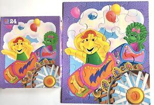 Complete Vintage 1996 Barney & Baby Bop Jigsaw Puzzle 24 Pieces 4365-18