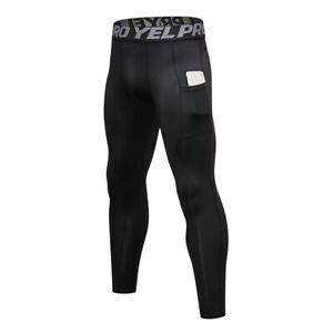 Mens Compression Pants Sports Base Layer Long Tights Workout Running Gym Pants