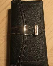 Nine West Black Pebbled Buckle Wallet