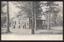 POSTCARD EAST SEBAGO ME/MAINE L.C. SPAULDING COTTAGE VIEW 1906
