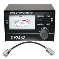 SWR & PWR Power Meter 1-100W + Patch Lead Cable CB Radio