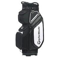 TaylorMade Mens Cart 8.0 Cart Golf Bag 2020 - Black/White/Chracoal