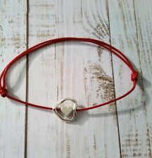 Red cord bracelet With Two Love Hearts Pendant, women, lady, girls