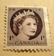 1954 Queen Elizabeth 11 Canada 1 Cent Stamp