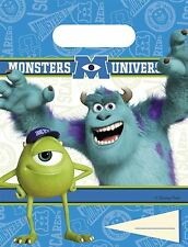 Monsters University Party Loot Bags 6pk - Disney Birthday Party Tableware