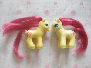 Rare - G2 Petit poney vintage bébés jumeaux Nosy Click - exclu France 1999