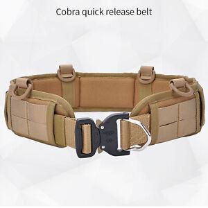 Strap Belt Tactical Military Molle Waist Belt Padded Combat Battle Quick Release