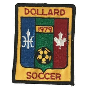 Dollard Des Ormeaux Montreal Quebec Canada Vintage 1979 Sew On Soccer Patch