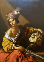 "oil painting handpainted on canvas""David with the Head of Goliath""@N9011"