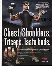 PEYTON HILlIS magazine print ad page 2012 rockin refuel protein clipping NFL
