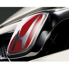 JDM 12-16 Honda Civic 2dr Coupe Front Back Red H Emblem Si DX EX (2 pieces set)
