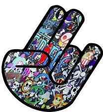 JDM The Shocker Car Bumper Vinyl Sticker Bomb Window Car Bumper Hand Logo Symbol