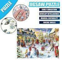 1000 Pieces Christmas Snowy Home Large Jigsaw Puzzle Game Educational Toys R3D6
