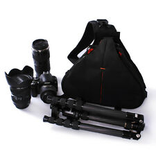 Waterproof Sling Crossbody Travel Bag Camera Lens Case For Canon Nikon DSLR