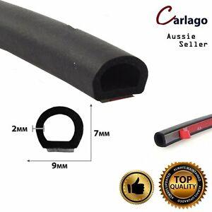 D Shape Edge Seal Trim Rubber Soundproof Car Door Trunk Protect Absorb Impact 6M