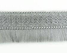 Silber Fringe Ribbon Sari Versorgung 558 Cm Breiten Bordüre Basteln  1874
