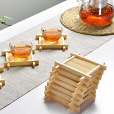 5pc Solid Wood Tea Tray Drainage Cup Teapot Mats Gongfu Tea Table Serving Plat