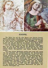 Alte Kunstpostkarte - Pisa - Fresko und Sinopel