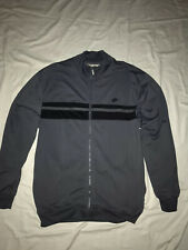 Vintage Full Zip Nike Track Athletic Jacket Mens Grey/Black Sz Large