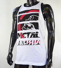 New Metal Mulisha Racing Team White Sport Mens Tank Top T shirt Medium MET-38