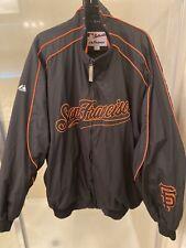 Majestic Authentic San Francisco Giants MLB Baseball Jacket Black Orange MensXXL