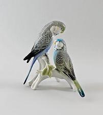 Figura de porcelana Pájaro Ens Par de periquitos azul 16x16x12cm 9997708
