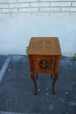 Antique French Inlaid Bedside Cabinet, Stand