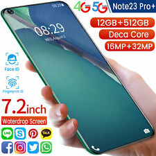 "Note23 Pro+ Android10 512GB 12GB RAM(FACTORY UNLOCKED)7.2"" HD+2320*1080 (Global)"