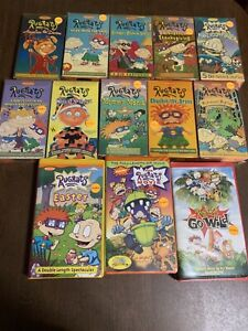 Nickelodeon RUGRATS VHS Tape Lot of 13 Orange Tapes Easter Thanksgiving