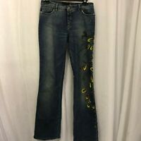 Roberto Cavalli Just Cavalli Women's Jeans Painted Beaded Bootcut Jeans Size 28
