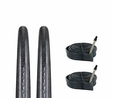Zol Bundle 2 Pack Z1076 Road Tires and Tube 700x25C, Presta/French 60 MM Valve