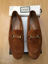 GUCCI MENS SHOES TAN BROWN SUEDE BRIXTON HORSEBIT SNAFFLE LOAFERS UK 6.5 40.5