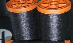 Lot of 2 Coats & Clark Extra Strong Heavy Duty Upholstery Thread BLACK