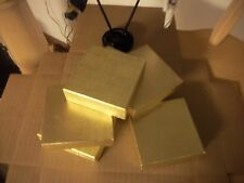 MADE IN AMERICA 2.5 X 1 1/2 X 7/8 100 ea  GOLD & WHITE COTTON FILLED BOXES