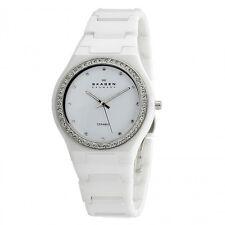 Skagen White Ceramic With Crystals Ladies' Watch - 813LXWC