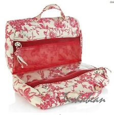 Serious Skin Care Bella Rose Fold Over Floral Cosmetic Bag NEW
