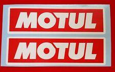 Motul Sticker 2 x 290mm Stickers Decals Racing Car Motorbike Rally Sponsors RW