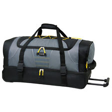"""LIGHTWEIGHT 28"""" WHEELED ROLLING DUFFEL LUGGAGE 2 SECTION DUFFLE BAG  NEW!"""