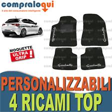 TAPPETI PER ALFA ROMEO GIULIETTA TAPPETINI AUTO SU MISURA 4 DECORI TOP RICAMATI