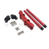 For Kawasaki Ninja 650R ER6F 06-16 CLIPON ADAPTER PLATE & Handlebar Kit CNC Red