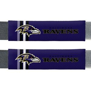 Baltimore Ravens NFL 2 Pack Rally Seat Belt Shoulder Pad Covers Car Auto Truck