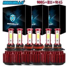 4-Side 9005 H11 9145 LED Headlight Fog Light Bulb for Ram 1500 2500 3500 2011-18