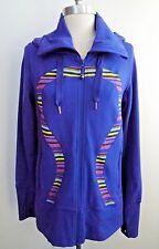 NEW LULULEMON blue stripe detail In Stride Jacket with hood size 10 NWOT