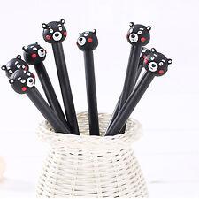 4Pcs Black Ink Cute Cartoon Bear Gel Pen 0.38 mm  Korean Stationery Student Gift