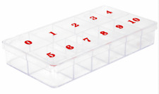 10 NUMBER TIPS CONTAINER
