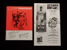 >orig.1971 PORTLAND BEAVERS vs SPOKANE INDIANS PCL Baseball Program + INSERT