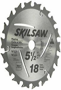 "SKIL 95010 Skilsaw 18-Tooth Ripping Circular Saw Blade, 5-1/2"""