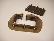 Wargames scenery. Log bunker with log roof. for 20mm or 28mm.